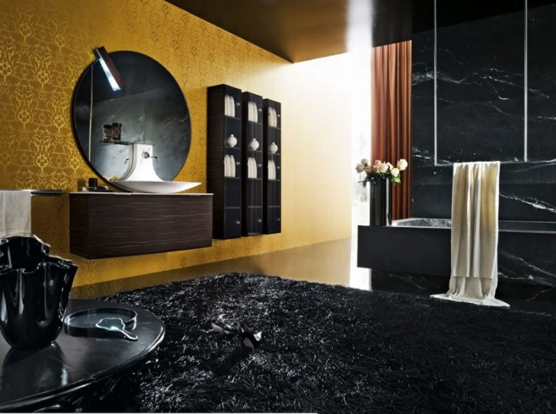 Bathroom Decor Modern Lux Black Interior
