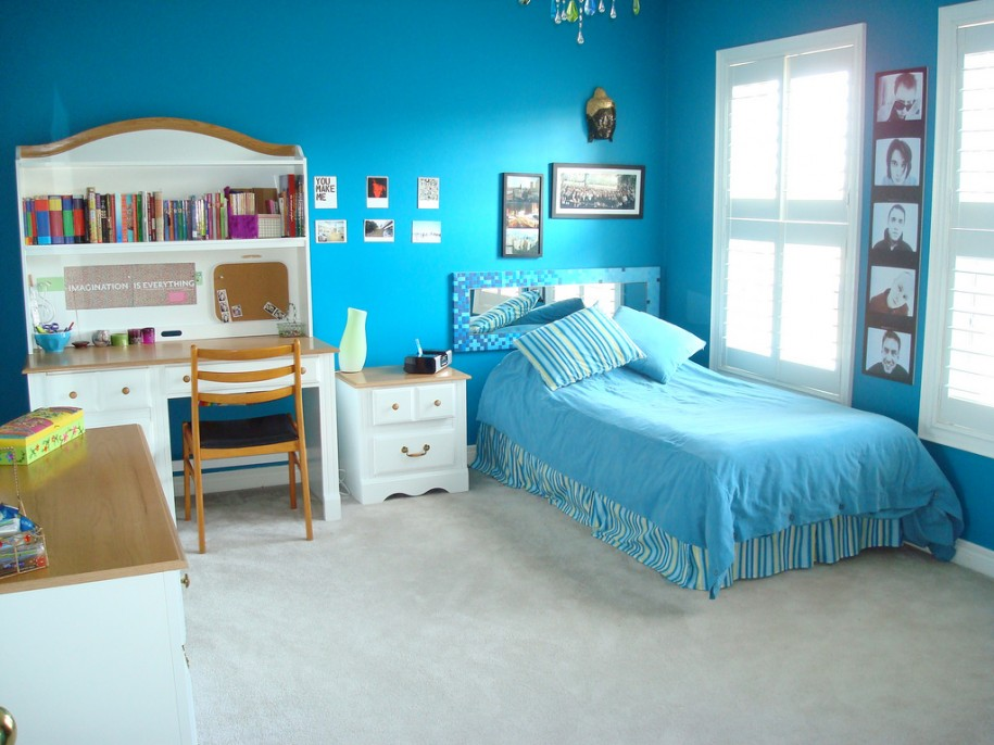 Blue Teenage Girl Room Ideas