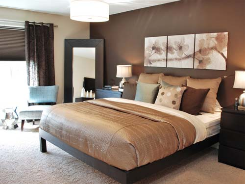 Brown Bedroom Decorating Modern