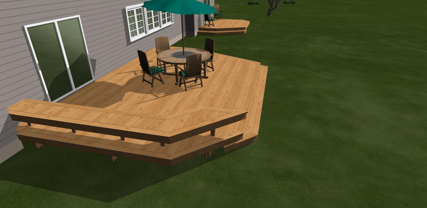 Deck Bench Seat 3D