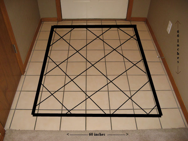 Entryway Tile Design Mockup