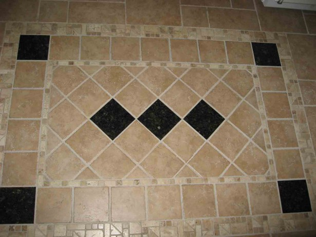Entryway Tile Design Rug