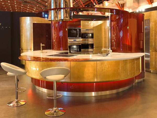 Expensive Kitchen Design with Round Table