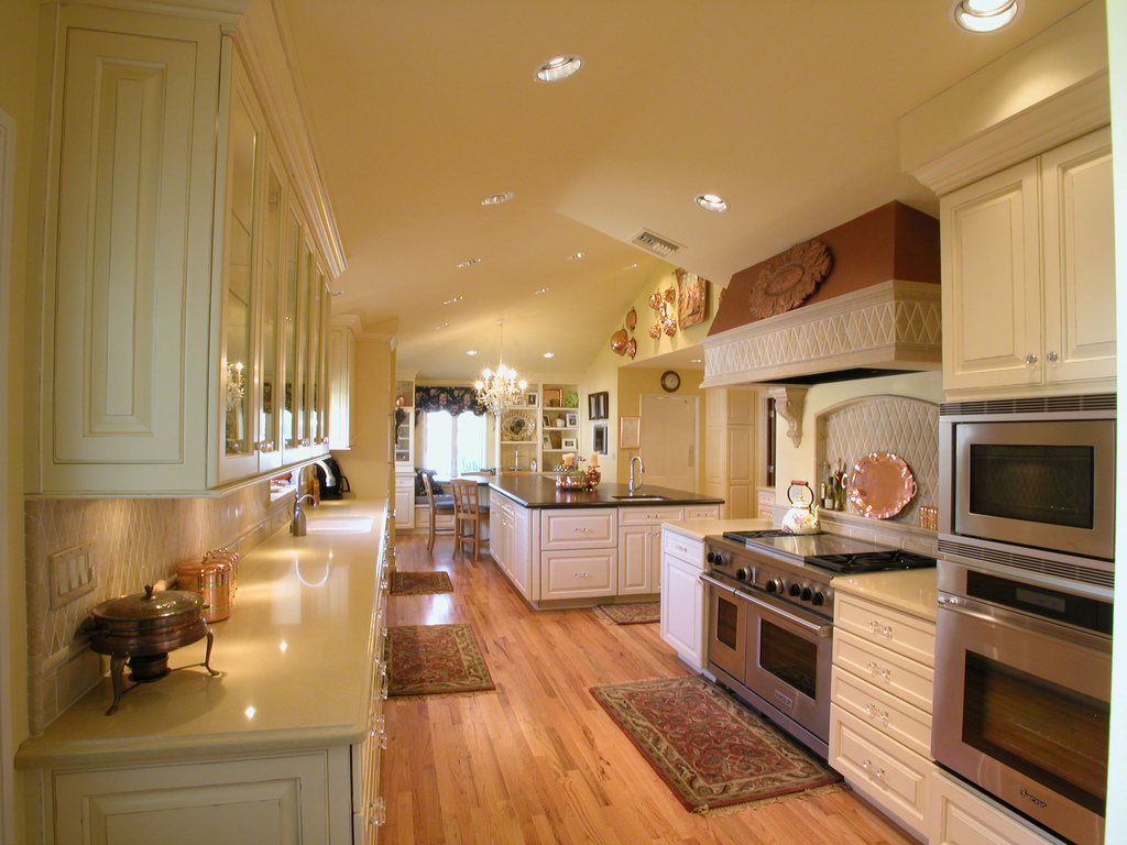 Expensive Kitchen Design with Wooden Floor