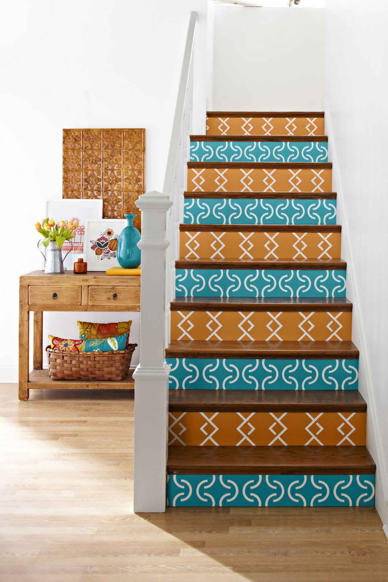 Hardwood Stairs Design Painted