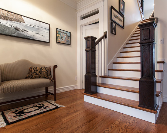 Hardwood Stairs Design Traditional