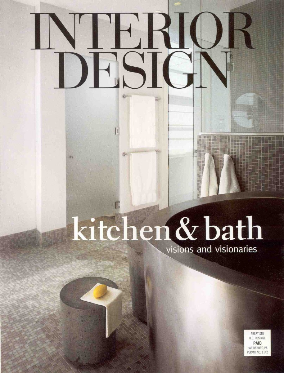 Interior design magazine cover for Interior design magazine
