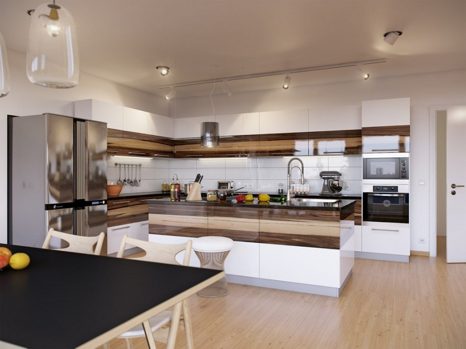 Modern Home Design Ideas for Wooden Kitchen