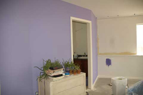 Painting Walls Purple
