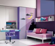 Purple Pink Teenage Girl Room Ideas