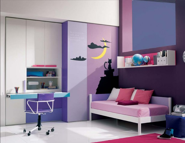 Purple Pink Teenage Girl Room Ideas