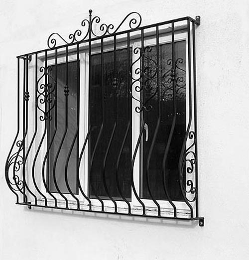 Security Window Grill Curved