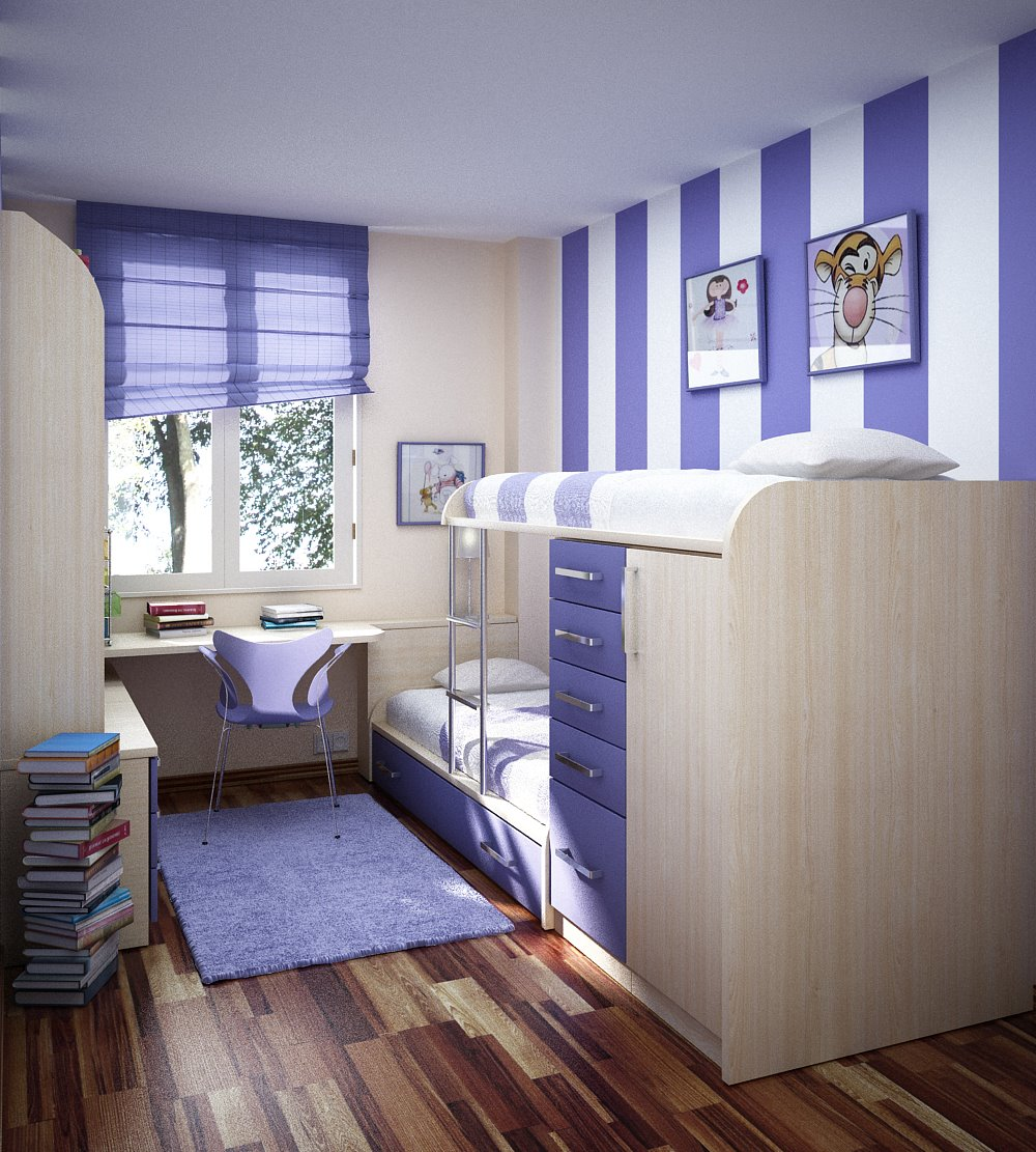 Stripes Teenage Girl Room Ideas