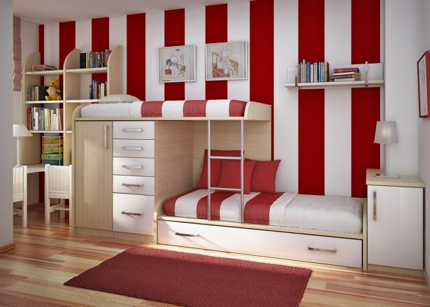 Teenage Girl Room Ideas with Bunk Beds