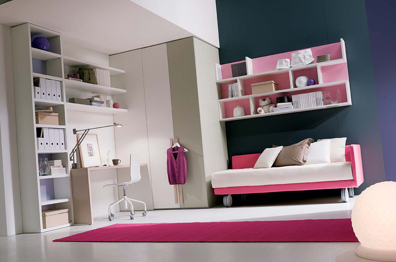 Teenage Girl Room Ideaswith Pink Carpet