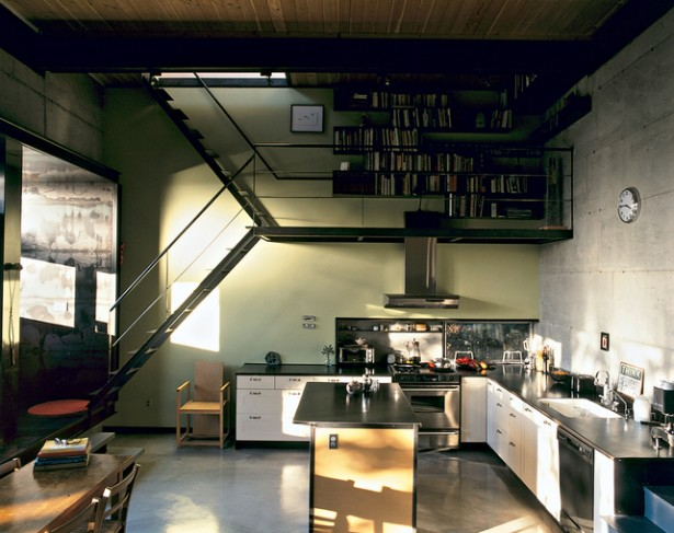 Book Storage Space Black Bookshelves Black Wooden Kitchen Island Black Window BEnch