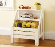 Book Storage Space White Bookshelves Yellow Luggages Wooden Floor