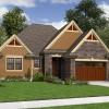 Cottage Plans Brown Wooden Garage Stone Wall Small Garden