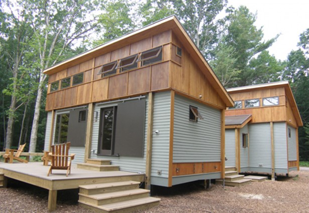 Cottage Plans Wooden Roof Aluminum Wall Wooden Chairs