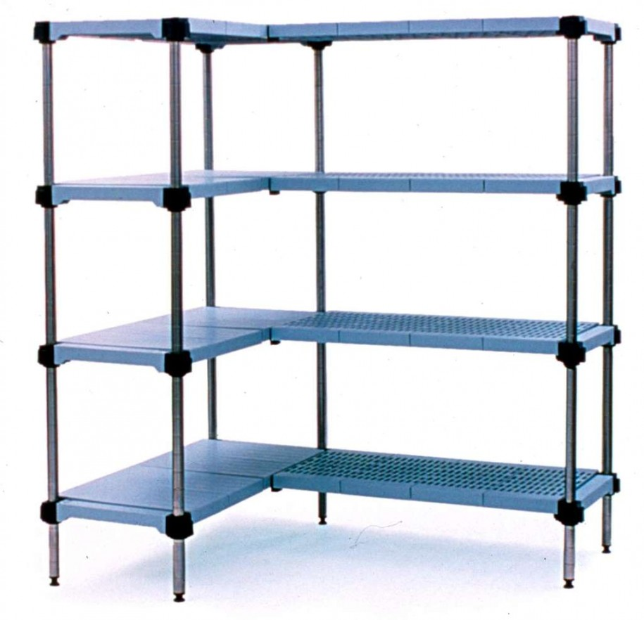 modular shelving units blue steel shelves