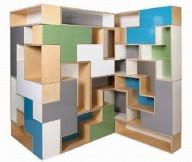 Modular Shelving Units Puzzle Shelves