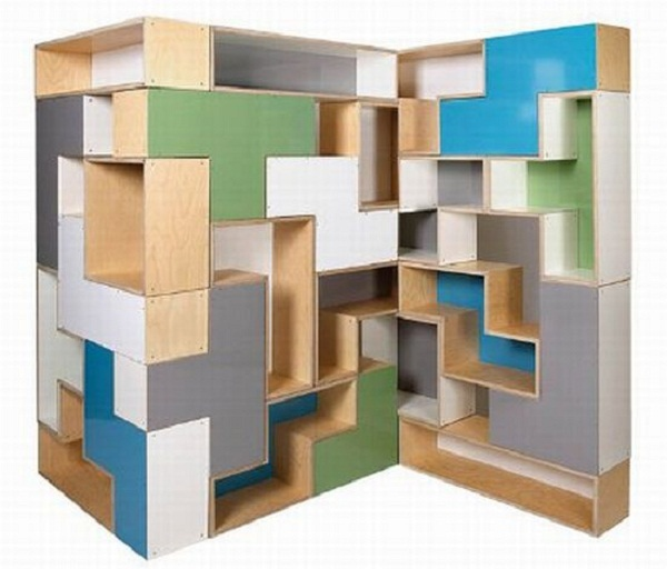 Modular Shelving Units Puzzle Shelves