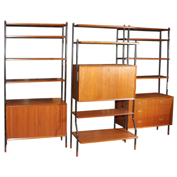Modular Shelving Units Wooden Shelves Partition