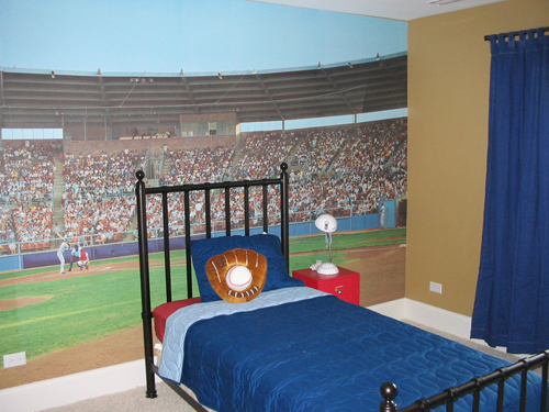 Sports Themed Bedroom Picture