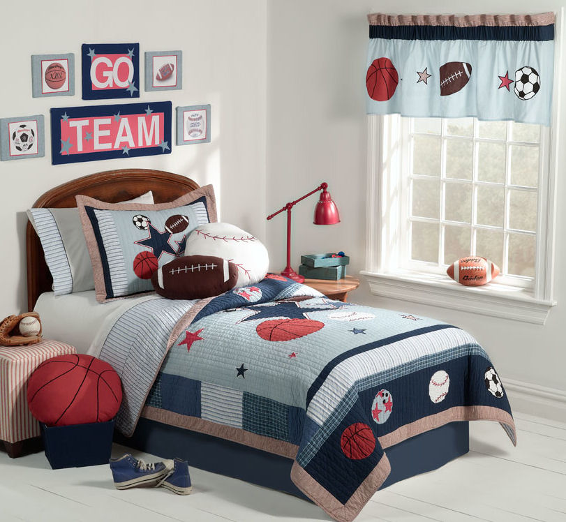 Sports Themed Bedroom Team