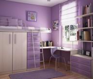 Teenage Bedroom Ideas Purple Wall Wooden Cabinet Purple Carpet