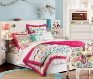 Teenage Bedroom Ideas White Bed Florral Armchair White Cabinet