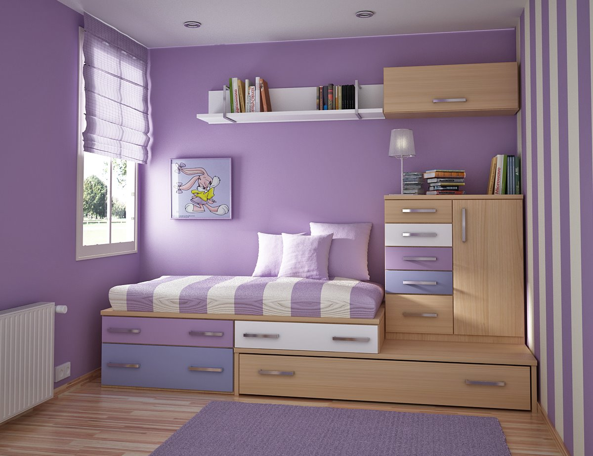 Toddler Room Ideas Purple Wall Wooden Purple Cabinets Purple Carpet