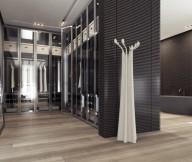 Apartment Closet Ideas Glass Door Cupboard Black Cupboards Grey Bath Tub Wide Mirror