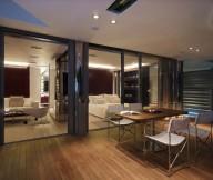 Arm Cahirs Glass Door White Bed Wooden Floor