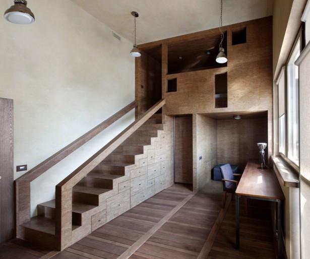 Arm Chair Pendant Lamps Unique Staircase Combined Storage