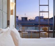 Artistic and Unconventional Design for bedroom with sunset view Design Showcased