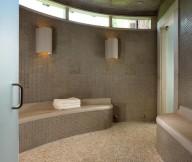 Backsplash tile sauna Inspiring wall lights Pool house