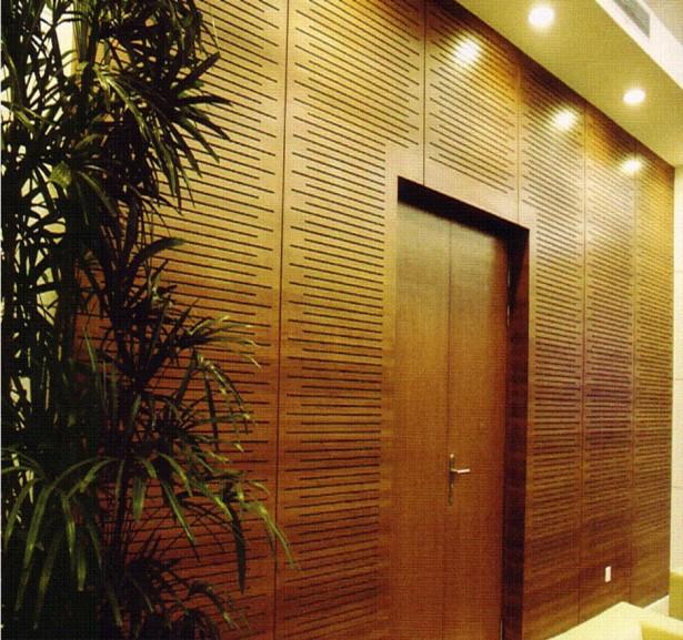 Bamboo Wall Panels Hidden Lamp Wooden Door
