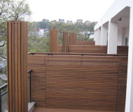 Bamboo Wall Panels Outdoor Wall Panel Black Balcony Fence