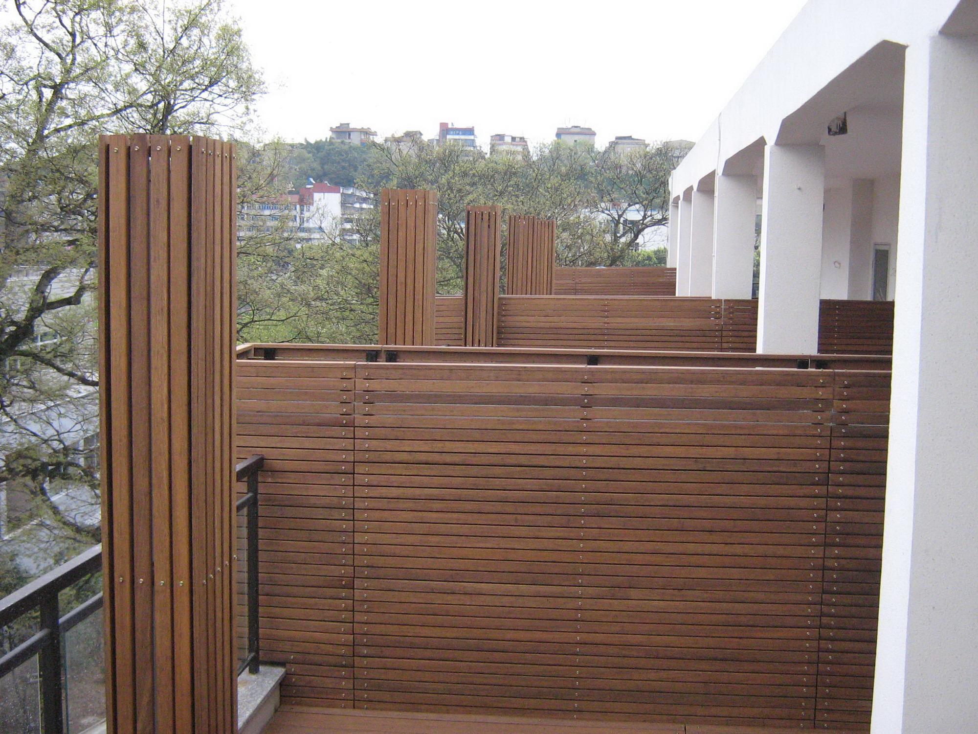 Bamboo Wall Panels Outdoor Wall Panel Black Balcony Fence