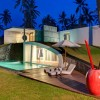Beach parasol Red glazed pot Amazing pool Villa Sapi
