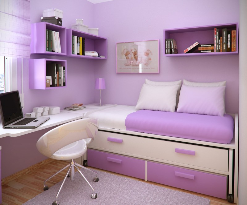 Beautiful Purple Small Bedroom Ideas