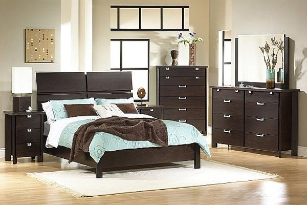 Bedroom Ideas for Young Women Cream Carpet Wooden Bed Frame Brown Wooden Cabinets Large Mirror