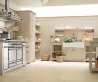 Beige Color Counters Modern Kitchen Chimney Rattan Baskets