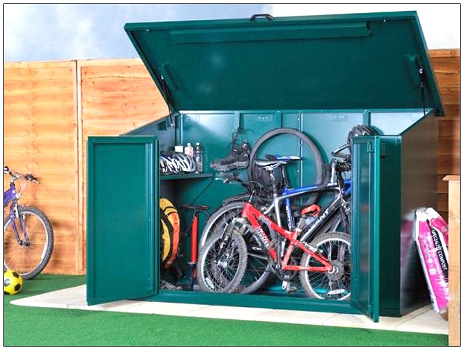 Bike Storage Ideas Green Box Green Floor