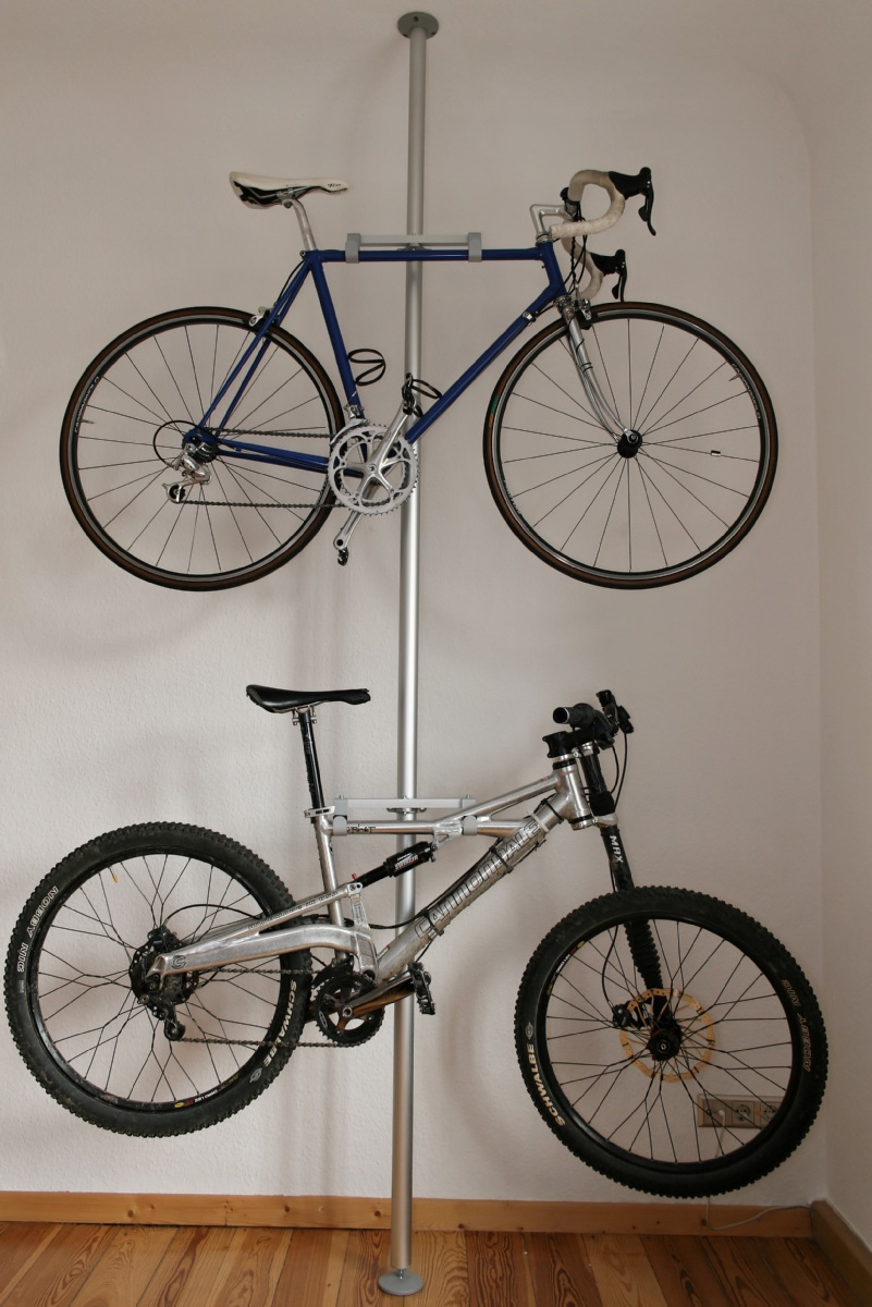 Bike Storage Ideas Steel Stake Bike Hanger
