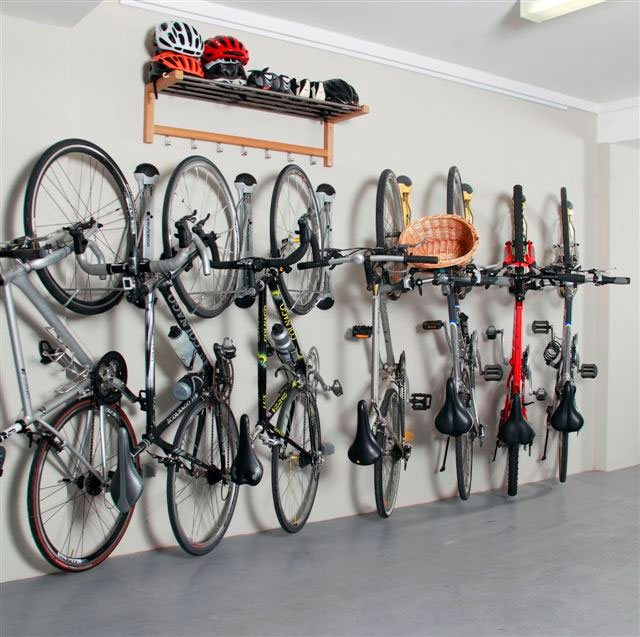 Bike Storage Ideas Steel bike Hanger Wooden Wall Shelves