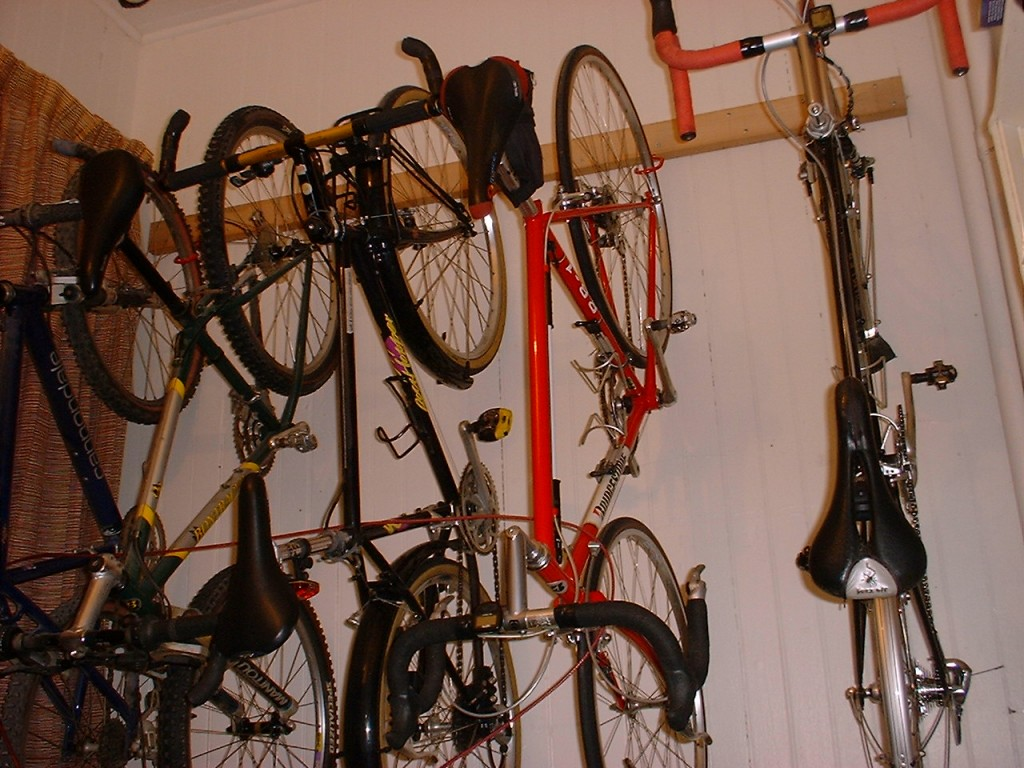 Bike Storage Ideas Wooden Bike Hanger