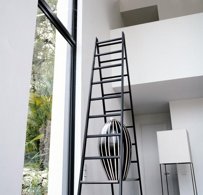 Black Ladder White Wall Modern Ewer Minimalist Look