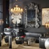 Black Leather sofas unique lamp Vintage Room Designs Creative and Inspiring Eclectic